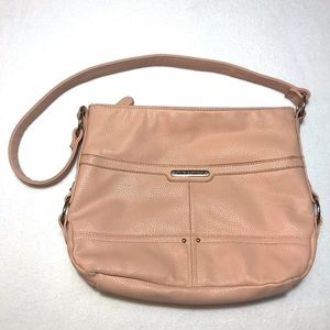 STONE MOUNTAIN - Pale Pink Leather Shoulder Bag